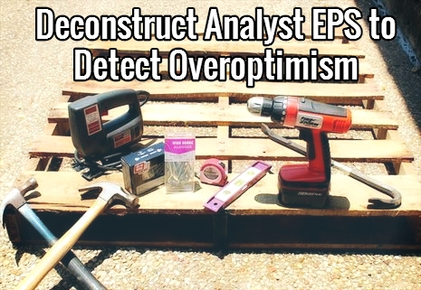 deconstruct analyst earnings estimates